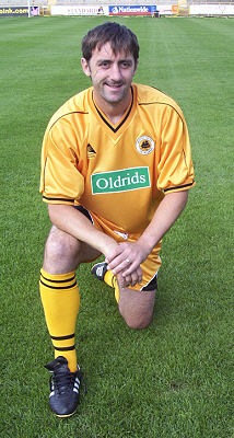 Stuart Balmer in new home kit