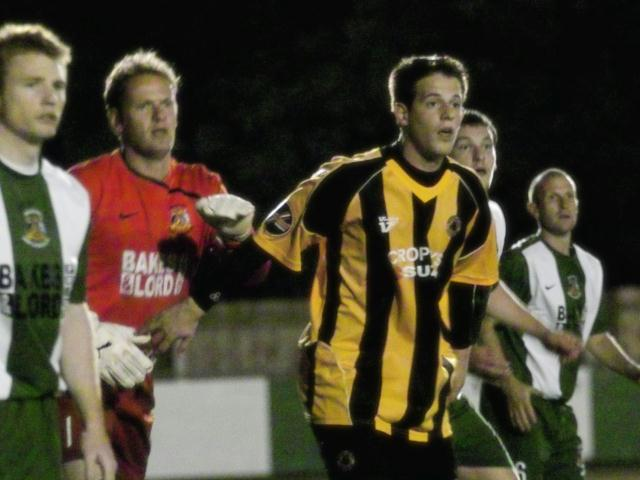 Marc Newsham awaits a corner