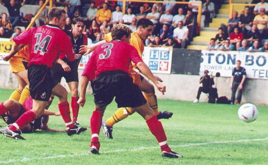 Boston United's first league goal