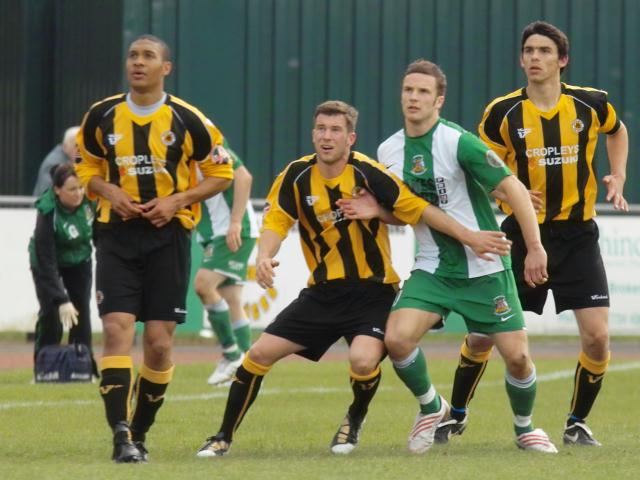 James Cullingworth and Shaun Pearson defend