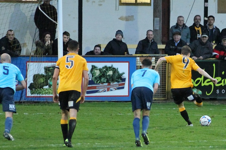 Dayle Southwell slots home at the second attempt