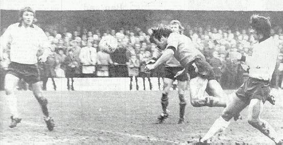 Jim Conde scores against Derby