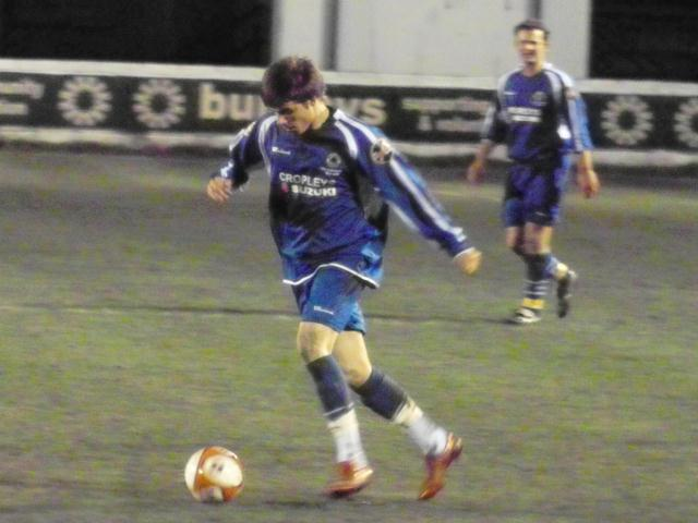 Gary King concentrates on the ball