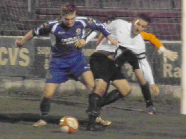 Goalmouth tussle