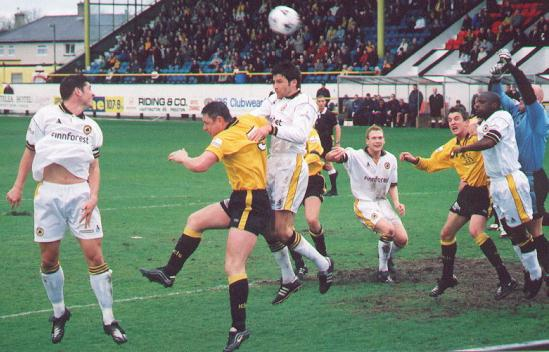 Goalmouth scramble