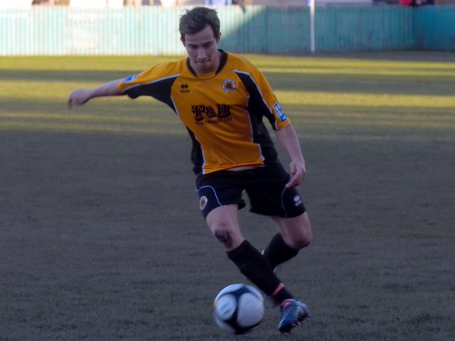 Danny Sleath dribbles down the wing