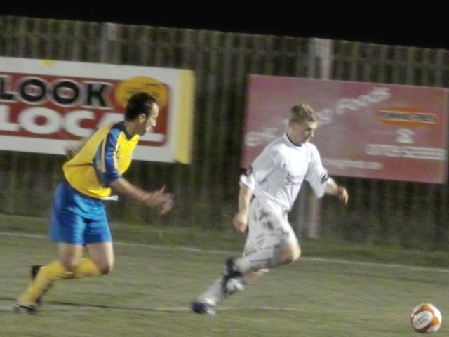 Jamie Yates speeds down the wing