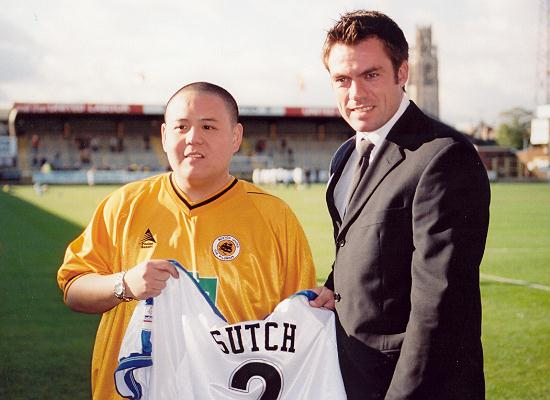 David Lee meets his hero Daryl Sutch