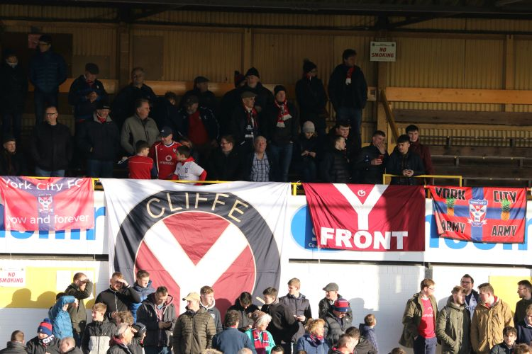 The York Street Stand begins to fill with York City fans